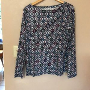 Soft,colorful patterned tee size lg. Great shape.